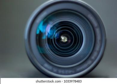 digital camera lens close-up