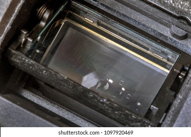 Digital camera sensor close up. Camera sensor CCD or Cmos closeup.