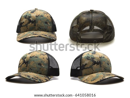 39df3833cd252c Digital camouflage cap isolated on white background. Multiple angles  included.