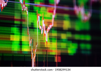 Digital chart on monitor trade stock , Business investment finance concept