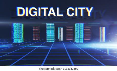 digital city background