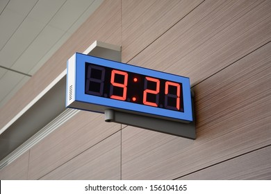Digital Clock on a wall