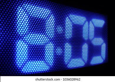 Digital Clock Panel Close-up