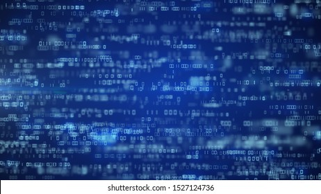 digital code background number zero and one running cloud computing technology concept