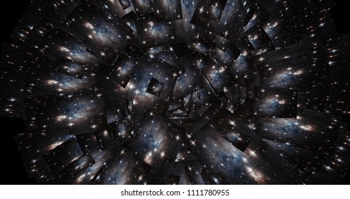 Digital Collage of a kaleidoscopic Space Scene - Elements of this Imageby NASA