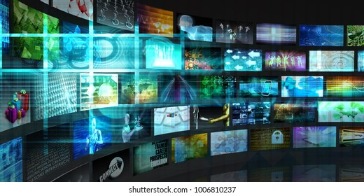 Digital Communication on the Internet with Data 3D Render