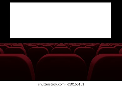 Digital composite of 3d cinema with blank screen