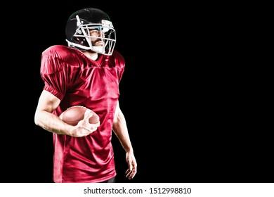 Digital Composite of American Football Player