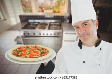 Digital composite of chef