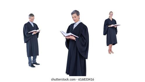 Digital composite of Judges group reading