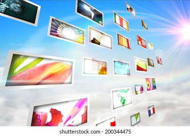 Digital composite of screen collage showing lifestyle images