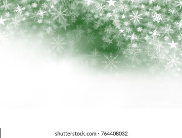 Digital composite of Snowflake Christmas pattern and blank space on green