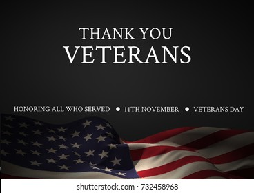Digital composite of veterans day flag