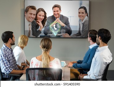 Digital composite of Video Chat