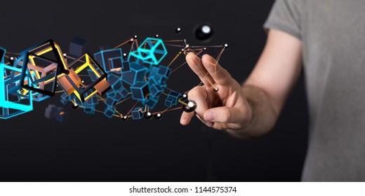 digital concept in hand