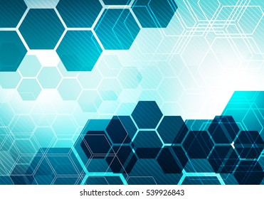 Digital conceptual gradiented image hexagon striped business technology background for corporate brand, presentation, graphic design, wallpaper