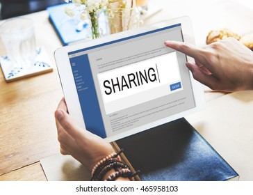 Digital Content Sharing Connect Website Searchbar Concept