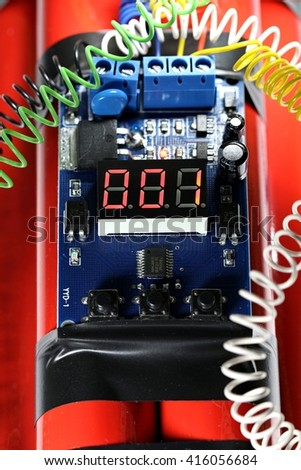 Digital Countdown Timer Bomb One Second Stock Photo (Edit Now