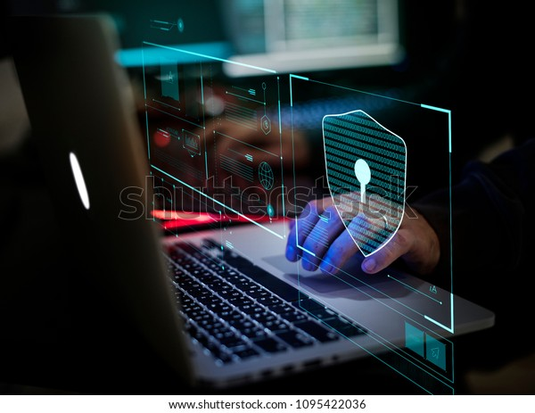 Digital crime by an anonymous hacker