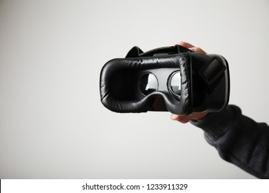 Digital cyberspace in the headset of virtual reality.