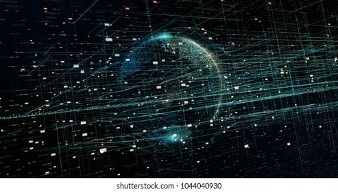 Digital data Earth