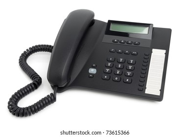 Digital desk phone isolated on a white background