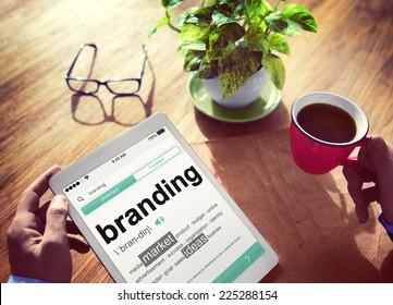 Digital Dictionary Branding Marketing Ideas Concept