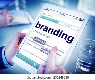 Digital Dictionary Branding Marketing Ideas Concept