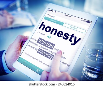 Digital Dictionary Honesty Values Integrity Concept