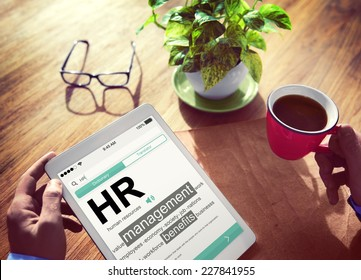 Digital Dictionary Human Resources Management Concept