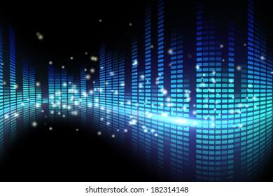 Digital disco design in blue