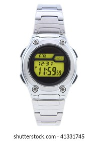 Digital Dress Watch with red face on white