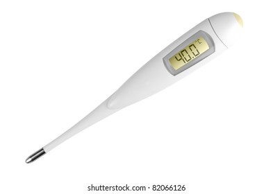 Digital electronic thermometer isolated on white background
