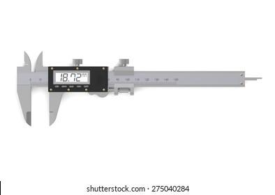 digital electronic vernier caliper isolated on  white background