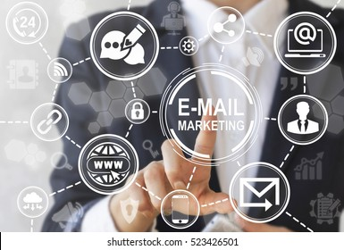 Digital email marketing, campaign, newsletter and subscription concept. Business mail communication icon concept. Post, envelope, e-mail, people, social media network. Message Online Chat Social Text.