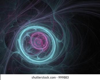 Digital eye; Fractal Art ;  illustration