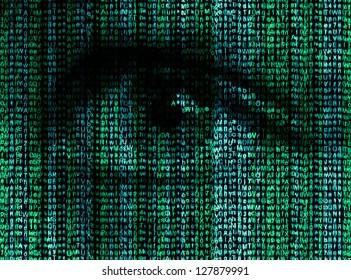 Digital eye reads the encrypted data