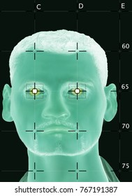 Digital Face recognition with biometrical Data