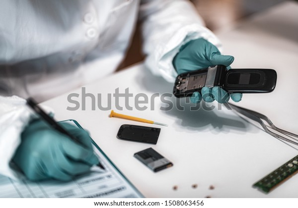 Digital Forensic Science Police Forensic Analyst Stock Photo Edit Now 1508063456