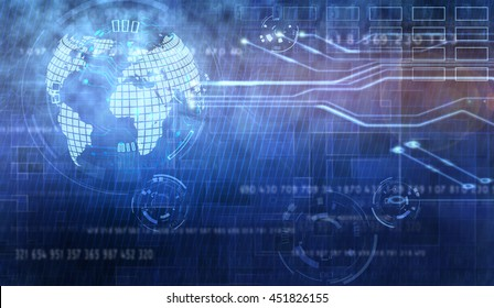 digital global technology concept, abstract background