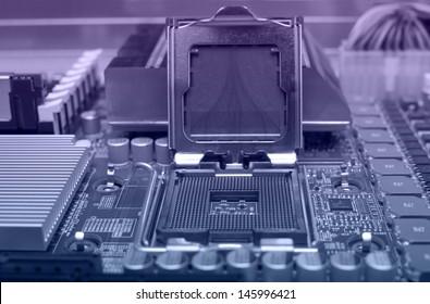 Digital hardware.electronic circuit close-up