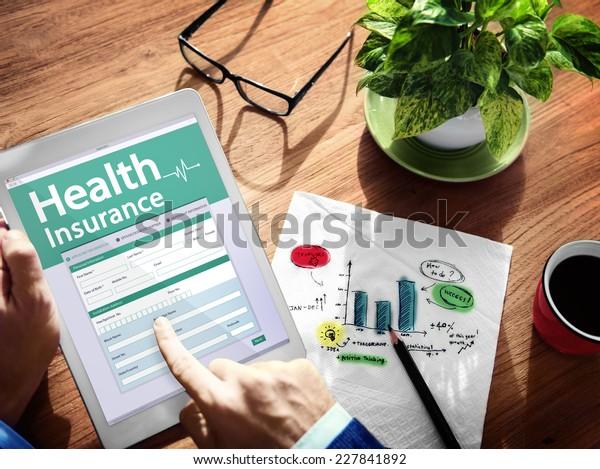 Digital Health Insurance Application Concept