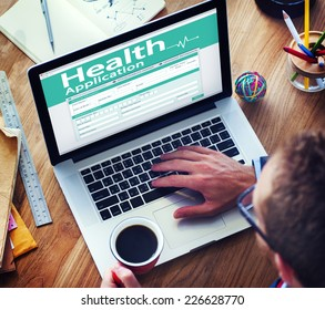 Digital Health Insurance Application Form Concept