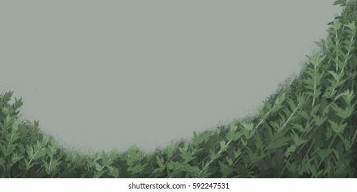 digital illustration of argyi prairie background