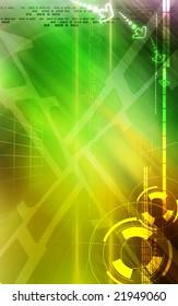 Digital illustration of digital background