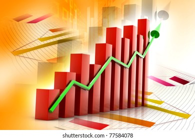 Digital illustration of Business graph