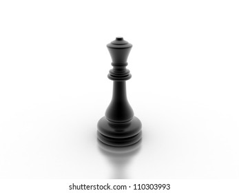 Digital illustration of chess board in 3d on white background