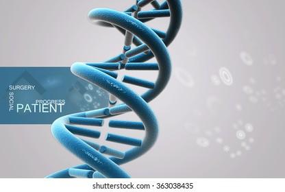 Digital illustration DNA structure in color background