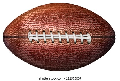 Digital illustration of a football without stripes.