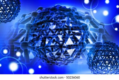 Digital illustration of gene in colour background